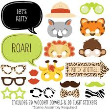 photo booth party props funfari safari jungle photo booth props kit