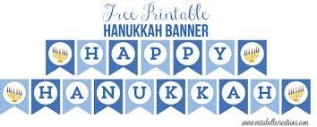 free printable hanukkah banner mirabelle creations