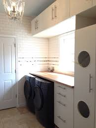 Laundry Room Hamper Cabinet by Laundry Room With Ikea Akumum Cabinets And Applad Doors The