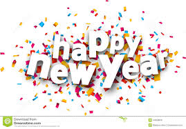 new year paper paper happy new year confetti sign stock vector illustration of