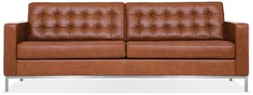 Mid Century Modern Leather Sofa Sofas Fow