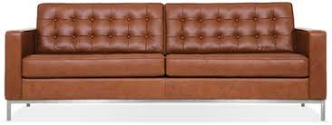 Mid Century Modern Leather Sofa Sofas Fow