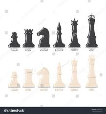 Chess Piece Designs by Set Realistic Black White Chess Pieces Stock Vector 583522780