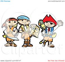 Treasure Map Clipart Royalty Free Rf Clipart Illustration Of Three Pirate Children