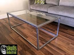 rustic metal coffee table coffee table steel and glass coffee table skullsstrial rustic