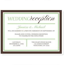 reception invitations creative wedding invitation wording sles wedding invitation