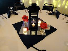 White Lantern Centerpieces by Entrancing Mirror Center Pieces With Pink Roses On The Glass Bowls