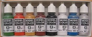 vallejo model color wargames basics acrylic paint set assorted
