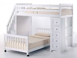 Double Size Loft Bed With Desk Bedroom Awesome Full Size Loft Bed With Desk For Sale White Colors
