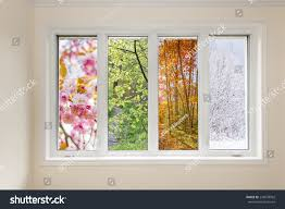 window home interior view four seasons stock photo 234578962