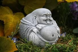 small buddha statue laughing zen master garden decor