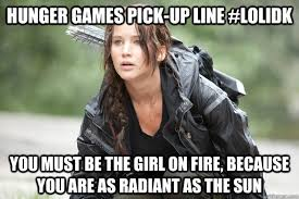 Pickup Lines Meme - hunger games pick up lines memes quickmeme