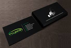 Lawncare Business Cards Modern Bold Business Card Design For Tyler U0027s Lawn Care By