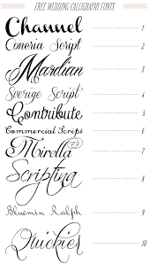 free 40 fonts for diy printable wedding invitations channel