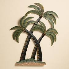 palm tree metal wall art takuice com
