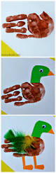 mallard duck handprint craft for kids animales for kids and ducks