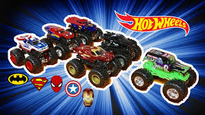 grave digger 30th anniversary monster truck toy grave digger vs super heroes monster jam racing youtube