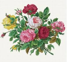 maurer stroh roses in their splendour cross stitch pattern