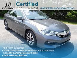 honda accord history certified pre owned 2017 honda accord hybrid 4d sedan in richmond