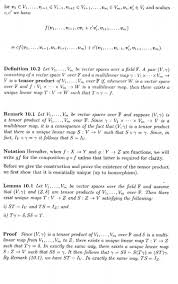 bilinear map proof of existence of tensor product further question