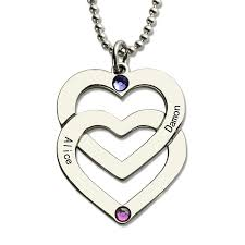 s necklace with names aliexpress buy wholesale birthstones heart necklace