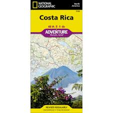 Adventure Map Costa Rica Adventure Map National Geographic Store