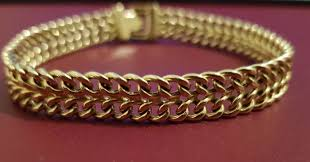 chain links bracelet images Gold bracelet with double groumette chain links catawiki jpg