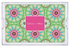 personalized serving trays lucite serving trays debra valencia