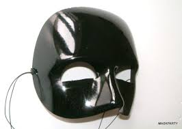 glossy halloween half mask