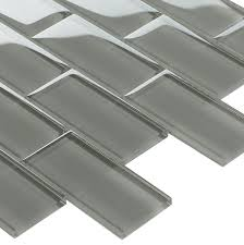subway glass tile smoke grey 2x4 kitchen backsplash swimming