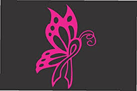 amazon com butterfly ribbon pink die cut vinyl window decal