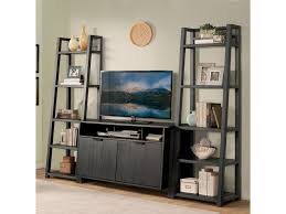Leaning Bookcases Riverside Furniture Perspectives Leaning Bookcase With 5 Shelves