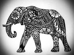 elephant design tattoos that i