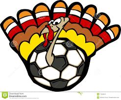 soccer thanksgiving happy turkey stock image