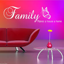 family home house wall quote sticker vinyl art decal transfer