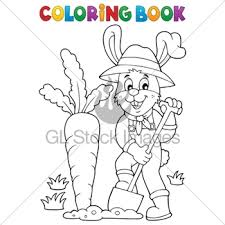 coloring book garden theme gl stock images