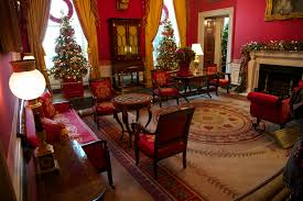 White House Christmas Decorations 2011 by Christmas Trees In The Red Room Of The White House Michelle