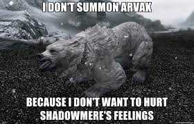 Confession Bear Meme Generator - skyrim confession bear gaming