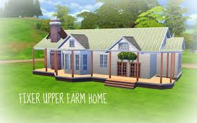 the sims 4 build fixer upper farm home pt 1 youtube