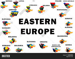 Blank Map Of Eastern Europe by Outline Map Of Eastern Europe With Each Country Raised And