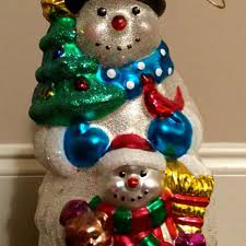 find more large mercury glass snowman ornament 10 00 for sale at