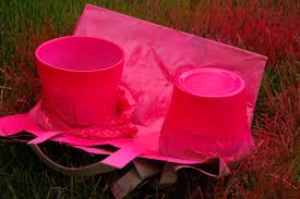 Light Pink Spray Paint - neon spray painted pots diy project aholic