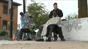 cnn haircuts teen and friend give free haircuts to the homeless wjla