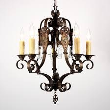 Spanish Revival Chandelier Wonderful Antique Five Light Spanish Revival Chandelier With