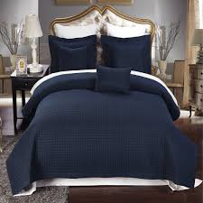 Bedroom With Yellow Walls And Blue Comforter Bedroom Navy Blue Comforter With Nighstand And Yellow Wall For