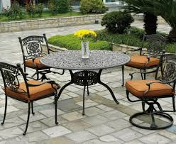 Bistro Set Bar Height Outdoor by 7 Piece Bar Height Patio Dining Set 7piece Cast Aluminum Round