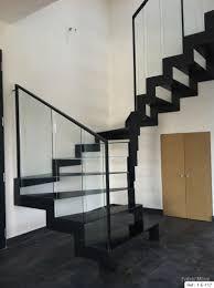 escalier garde corps verre fabricant escalier metal bretagne vannes lorient rennes nantes
