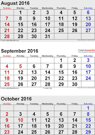 printable monthly planner september 2014 october 2016 calendars for word excel pdf