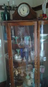 Antique Curio Cabinet With Clock Entire House Contents Sale Family Run Starts On 11 18 2017