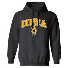 Iowa Hawkeyes Flag Hawkeyes Arch Logo Wrestling Hoodie